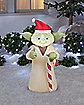 3.5 Ft Festive Yoda Inflatable - Star Wars