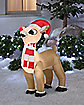 3.5 Ft Rudolph with Hat and Scarf Inflatable Decoration - Rudolph the Red-Nosed Reindeer
