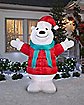 7 ft Polar Bear Inflatable - Decoration