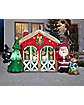 6 Ft Light Up Reindeer Stable Scene Inflatable