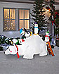 5 Ft Polar Bear and Penguin Friends Inflatable