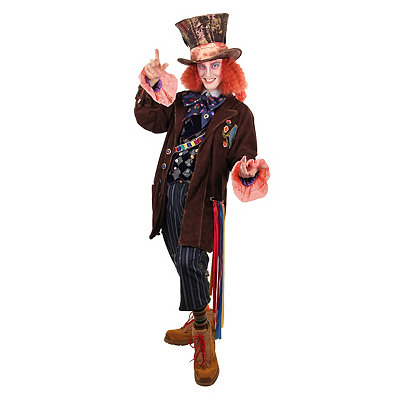 Vintage Men's Costumes – 1920s, 1930s, 1940s, 1950s, 1960s Adult Mad Hatter Costume - Alice Through the Looking Glass $429.99 AT vintagedancer.com