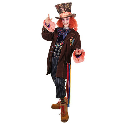 Vintage Men's Costumes – 1920s, 1930s, 1940s, 1950s, 1960s Adult Mad Hatter Replica Jacket - Alice Through the Looking Glass $169.99 AT vintagedancer.com