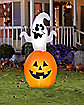 5 Ft Animated Spinning Ghost In Pumpkin Inflatable