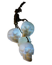2 Ft Light Up Hanging Skulls - Decorations