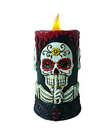 Sugar Skull LED Candle