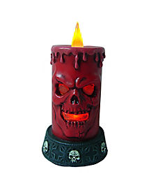 Red Skull LED Candle
