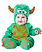 Baby Green Faux Fur-Trimmed Monster Costume