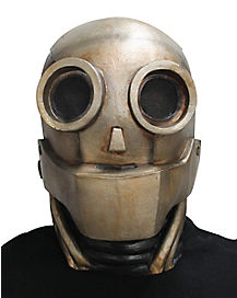 Adult Bronze Robot Mask