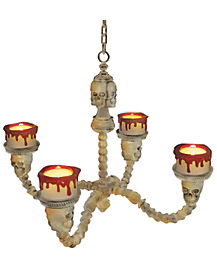 1 Ft Haunted Bone Chandelier - Decorations
