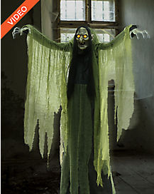 6.5 Ft Towering Witch Animatronics - Decorations