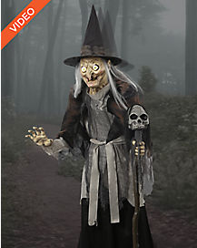 6 Ft Lunging Haggard Witch Animatronics - Decorations