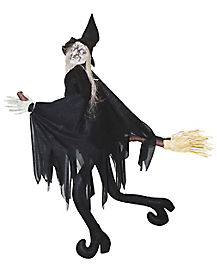 2 Ft Witch on Broom Animtronics - Decorations