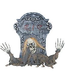 18 Inch Tombstone Reaper Animatronics - Decorations