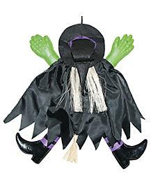 14 Inch Purple Crashing Witch - Decorations