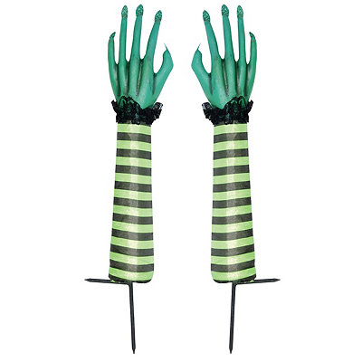 1.5 Ft Green Witch Hand Sticks - Decorations
