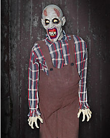 Zombie Farmer Animatronic - Decorations