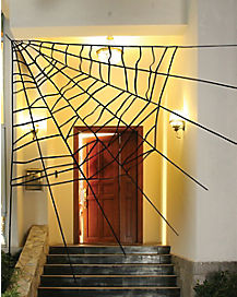 60 Inch Corner Spider Web - Decorations