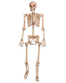 5 Ft Light Up Stay And Pose Skeleton - Decorations