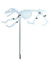 Skeleton Dog Yard Stake - Decorations