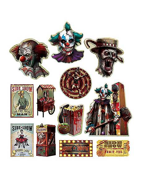 Spirit Halloween Wall Decor : Circus side show cutouts decorations spirithalloween