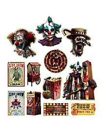 Circus Side Show Cutouts - Decorations