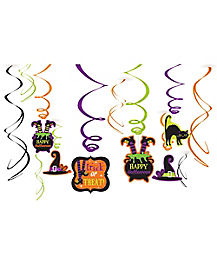 Happy Halloween Foil Swirls - Decoration