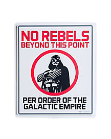1.5 Ft No Rebels Sign Decorations - Star Wars