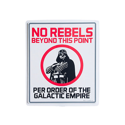 1.5 Ft No Rebels Sign Decorations - Star Wars