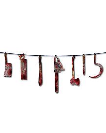 1.5 Ft Bloody Weapon Garland - Decorations