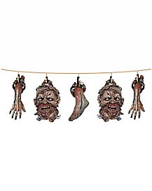 Zombie Head Garland - Decorations