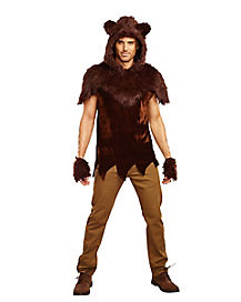 Adult Faux Fur Papa Bear Costume