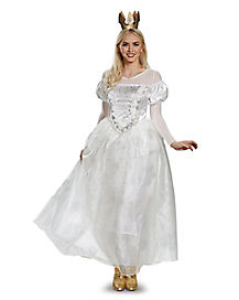 Adult White Queen Costume Deluxe - Alice Through the Looking Glass