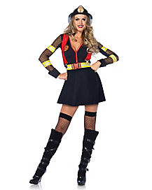 Adult Red Hot Fire Captain Costume