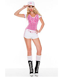 Adult Miss Curve Baseball Costume