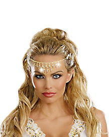 Adult Rhinestone Goddess Headpiece