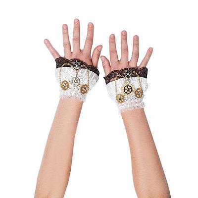 Steampunk Accessories Steampunk Wrist Gloves $9.99 AT vintagedancer.com