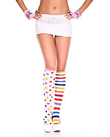 Clown Knee High Socks