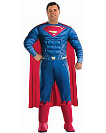 Adult Superman Plus Size Costume Deluxe - Batman v. Superman: Dawn of Justice