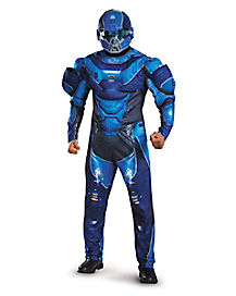 Adult Blue Spartan Costume - Halo