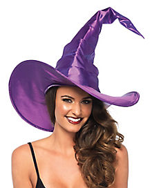 Ruched Purple Witch Hat
