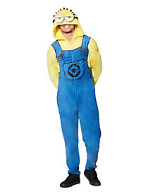 Adult Hooded Minions Despicable Me Pajama Costume