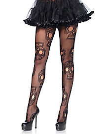 Sugar Skull Plus Size Tights