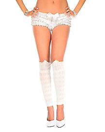 White Chrochet Leg Warmers