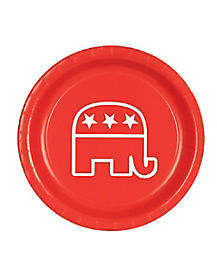 Republican Elephant Plates