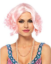 Pink Curly Bob Wig