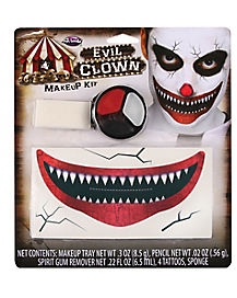 Evil Clown Makeup Kit