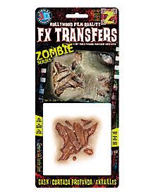 Zombie Gash Makeup FX Transfer