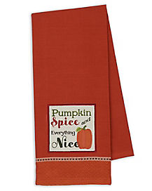 Pumpkin Spice and Everything Nice Dish Towel