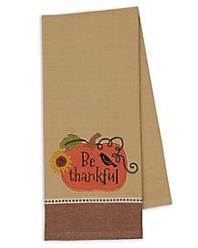 Be Thankful Pumpkin Dish Towel